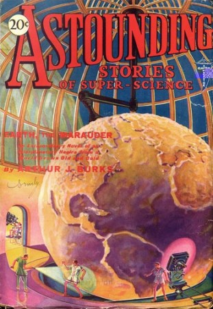 astounding stories of super science: earth the marauder