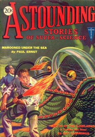 astounding stories of super science: marooned under the sea