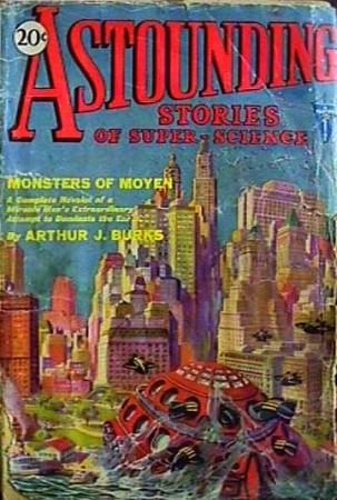 astounding stories of super science: monsters of moyen
